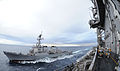 US Navy 101026-N-8721D-024 The Arleigh Burke-class guided-missile destroyer USS Stethem (DDG 63) pulls alongside the aircraft carrier USS George Wa.jpg