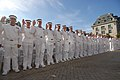 US Navy 110630-N-OA833-010 Plebes are officially sworn in at the conclusion of Induction Day.jpg