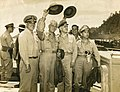 US Navy officers with Sergio Osmeña and Carlos P. Romulo.jpg