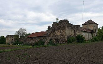 Zoloty Potik castle - Castle, overcast weather