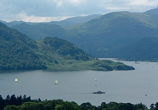 Ullswater lake in the English Lake District