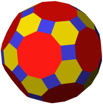 Archimedean solid - The truncated icosidodecahedron is the largest Archimedean solid by volume (when all are drawn with equal edge lengths). It also has the most vertices and edges.