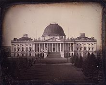 Picture of old uncompleted Capitol building.