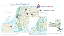 Map Of New York 8th Congressional District.New York S 8th Congressional District Wikipedia