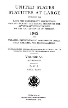 United States Statutes at Large Volume 56 Part 1.djvu