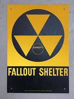 Fallout shelter enclosed space specially designed to protect occupants from radioactive debris or fallout