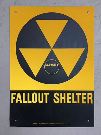 Fallout shelter - A fallout shelter sign in the United States of America.