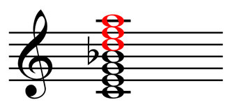 Factor (chord) - Image: Upper structure triad