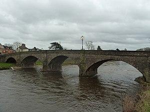 Usk Bridge (Usk) - Image: Usk bridge