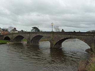 Usk Bridge (Usk) bridge in Usk, Monmouthshire, Wales