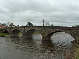 """Usk Bridge (Usk) - """"well-proportioned 18th and early 19th century road bridge"""""""