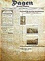 Utgåve av avisa Dagen frå 1919 - framside THUMB.jpg