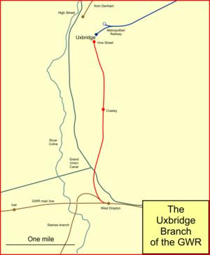 Uxbridge (Vine Street) branch line - The Uxbridge branch after 1936