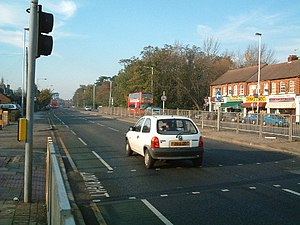 West London Tram - The Uxbridge Road at Hillingdon, part of the proposed route of the tramway
