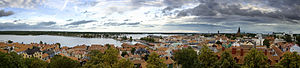 Västervik - A panorama of Västervik from the roof of St. Gertruds Church.