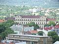 Výhled z obchodní akademie - okolí vlakového nádraží.JPG