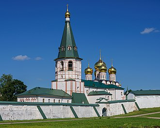 Valday Iversky Monastery - Bell tower, and Cathedral of Our Lady of the Iberian