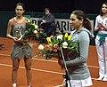 Valeria Solovyeva i Raluca Olaru BNP Paribas Katowice Open 2013 (5).jpg