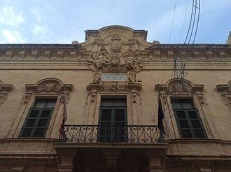 Banca Giuratale (Valletta) - Baroque façade of the Banca Giuratale