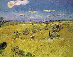 Auvers size 30 canvases - Image: Van Gogh Wheat Stacks with Reaper