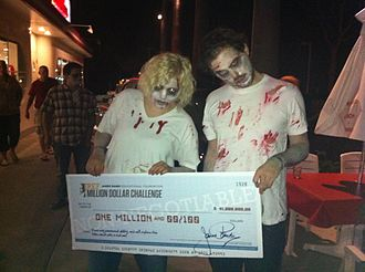 James Randi Educational Foundation - Image: Van Praagh Zombies JREF million dollar check October 2011