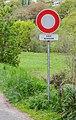 Vehicles forbidden sign in Rodez.jpg