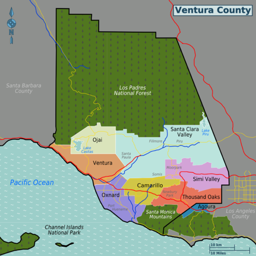Ventura County – Travel guide at Wikivoyage on
