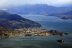 Verbania pictured from the summit of Mottarone