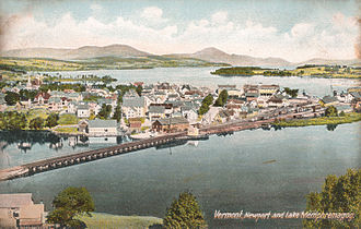 Newport (city), Vermont - A postcard image of Newport around 1910