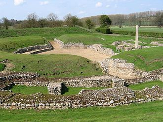Theatre of the United Kingdom - Roman theatre excavated at Verulamium