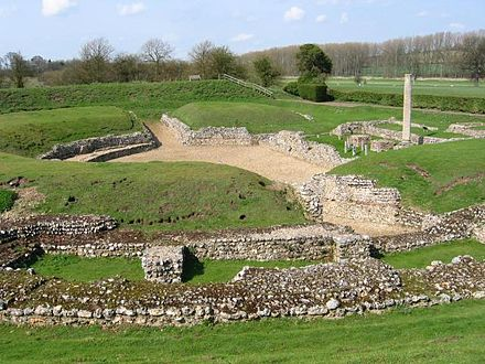 Roman theatre excavated at Verulamium