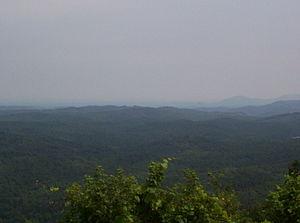 Cherohala Skyway - View along the Skyway