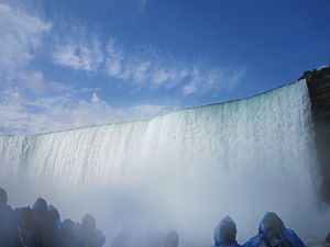 View of Niagara Falls from the Maid of the Mist IMG 1352.JPG
