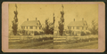 View of a house behind the fence, by Asa H. Lane.png