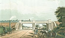 View of the Intersection Bridge, from Bury's Liverpool and Manchester Railway, 1832 - edgehill 2.jpg