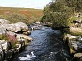 View of the river from the clapper bridge, looking east - geograph.org.uk - 1473677.jpg