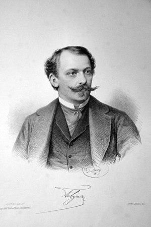 Viktor Oskar Tilgner - Viktor Tilgner, Lithograph by Adolf Dauthage (1881)