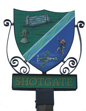 Shotgate - Image: Village sign shotgate