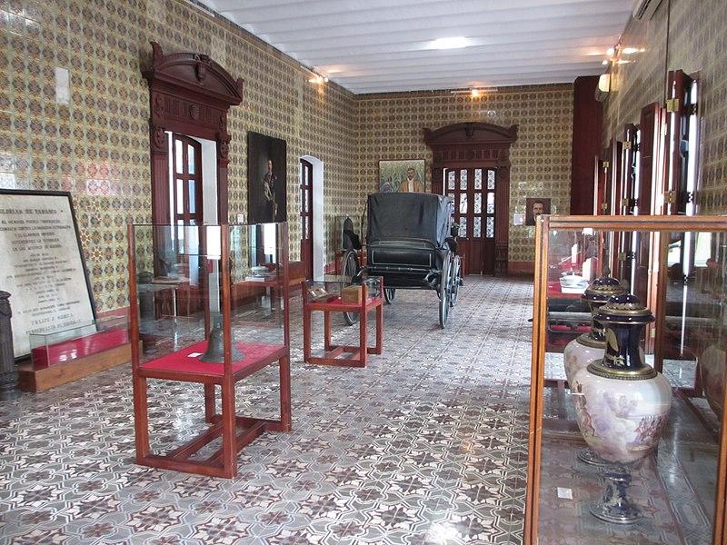 Interior de la Casa de los Azulejos en Tabasco