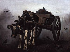 Cart with Black Ox - Cart with Black Ox