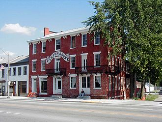 Cambridge City, Indiana - Vinton House, a historic inn on the Whitewater Canal