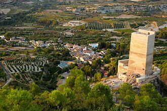 Carrícola - Image: Vista Castell de Carricola 03