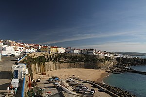 The coastal view of the skyline of Ericeira