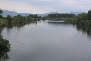 Fluvià river in Catalonia in Spain