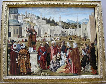 Vittore carpaccio, predica di s. stefano a gerusalemme, da scuola di s. stefano a ve, 1514 ca. 01.JPG