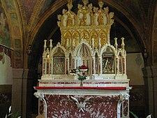 Le reliquie di Santa Augusta, custodite nel santuario
