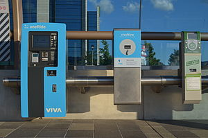 Presto card - Viva OneRide and Presto machines at a Vivastation