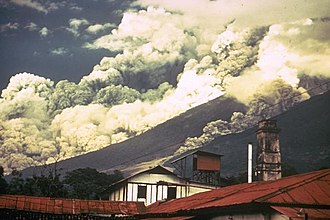 Acatenango, Chimaltenango - The 1974 Volcán de Fuego eruption partially destroyed San Pedro Yepocapa.
