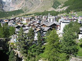Skyline of Saas-Fee