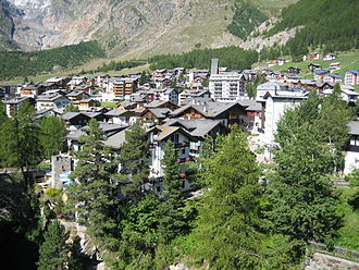 Saas-Fee - Image: Vue sur Saas Fee